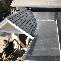 Roofing repairs at Cafe Routier in Westbrook, CT