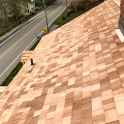 Cedar roof replacement in Essex, CT